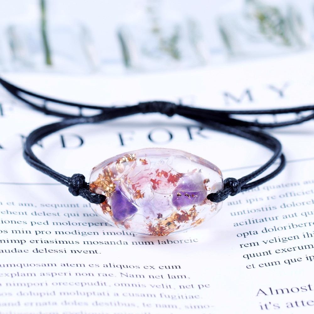 Orgonite Bracelet Smelting Stone Eliminate Eegative Energy Natural Energy Crystal Chamilia Bracelet Energy Converter Reiki