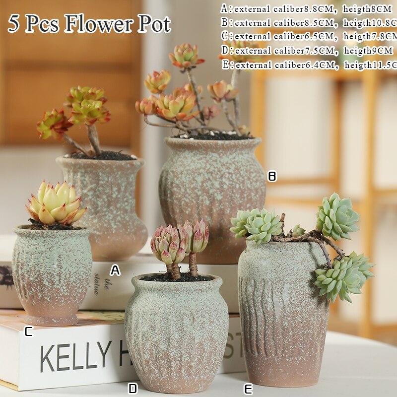 Flower Pot Ceramic Succulent Cactus Pots Plant Pots Garden Pots Ceramic Flower Pots Planter Outdoor Garden Home Decoration