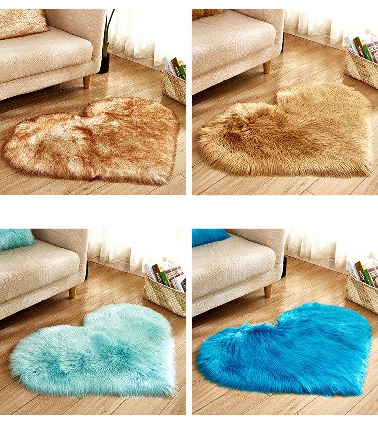 shaggy heart imitation sheep skin rugs australia