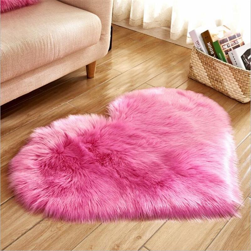 Wool Imitation Soft Sheepskin Rugs Faux Fur Non Slip Bedroom Shaggy Carpet Living Room Mats tappeto cucina round rug alfombras