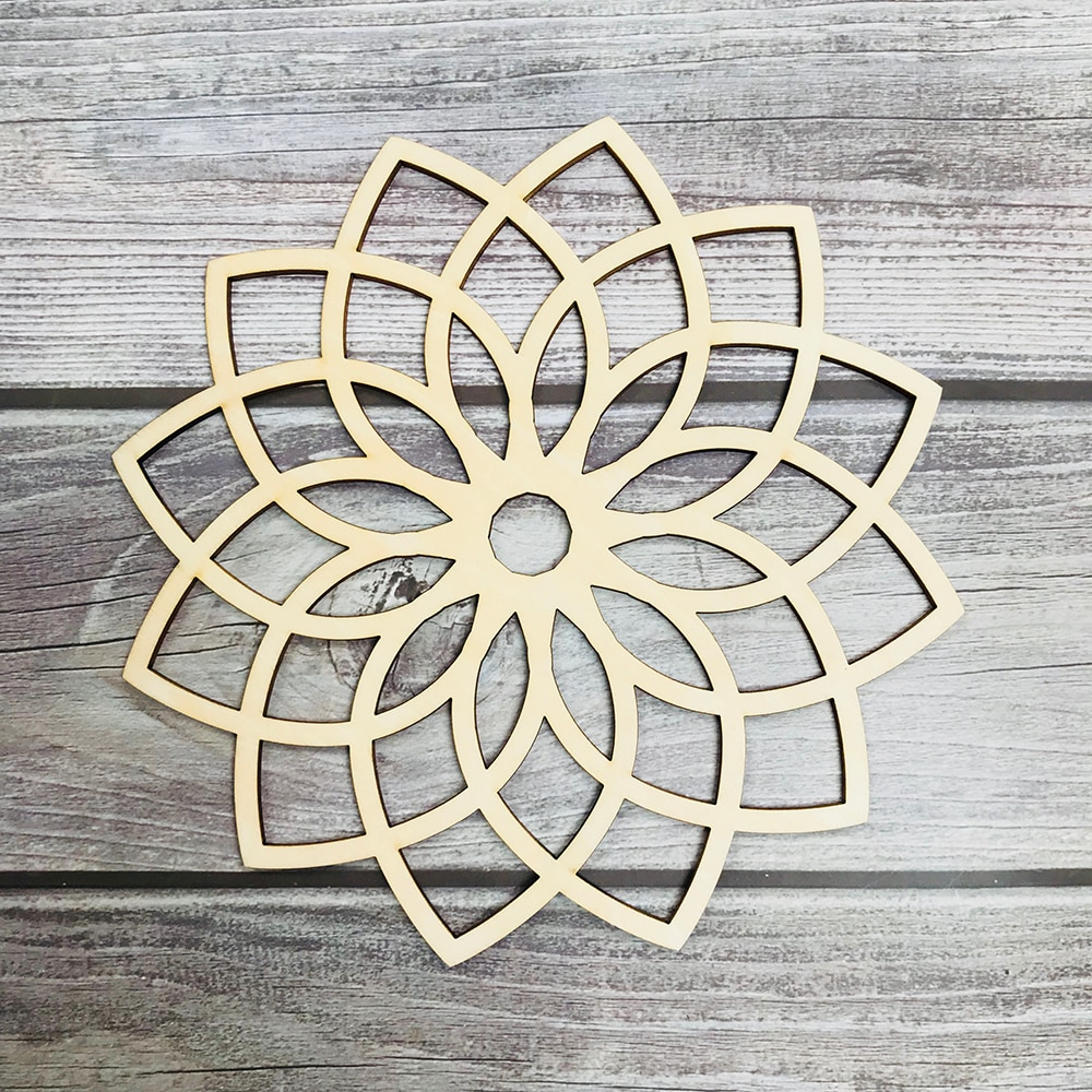 Tree of Life Wood Wall Hanging Laser Cut Wooden Wall Art Sacred Geometry Yoga Studio Unique Handmade Spiritual Gift Home Decor
